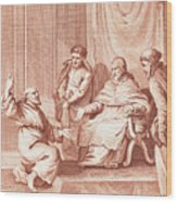 Man Meeting With The Pope Wood Print