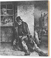 Man On The Street Wood Print