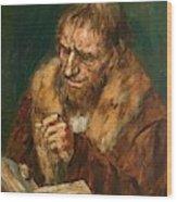 Man Reading 1922 Wood Print