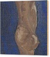 Man Staring Wood Print