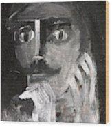 Man With A Handlebar Moustache Wood Print
