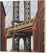 Manhattan Bridge, Brooklyn, New York Wood Print