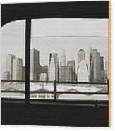 Manhattan Through Car Window Wood Print
