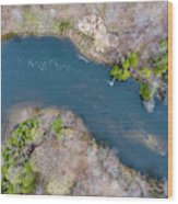 Manistee River From Above Wood Print