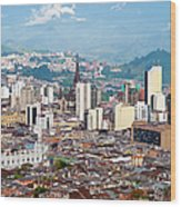 Manizales City View, Colombia Wood Print