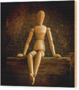 Mannequins On A Wooden Box Wood Print