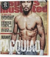 Manny Pacquiao, 2015 Wbawbcwbo Welterweight Title Preview Sports Illustrated Cover Wood Print