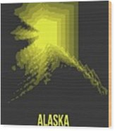 Map Of Alaska Wood Print