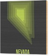 Map Of Nevada Wood Print
