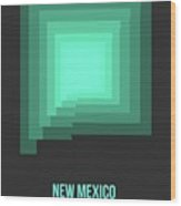 Map Of New Mexico 3 Wood Print