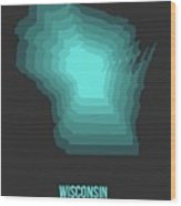 Map Of Wisconsin 3 Wood Print