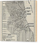 Map Showing Divisions Of Gang Wood Print