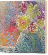 Marabu Flowers 1 Wood Print
