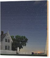 Marblehead Lighthouse At Night Wood Print