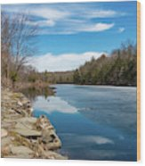 March Morning At Sanctuary Pond Wood Print