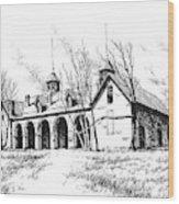 Marcus Daly Tammany Barn Hamilton Montana Wood Print