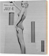 Marilyn Monroe Advertising Safety Wood Print