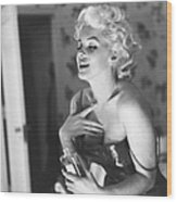 Marilyn Monroe With Chanel No. 5 Wood Print