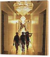 Marines Secure U.s. Embassy In Baghdad Wood Print