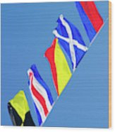 Maritime Signal Flags Wood Print
