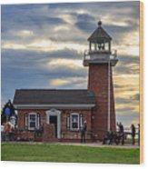 Mark Abbott Memorial Lighthouse And Santa Cruz Surfing Museum Wood Print