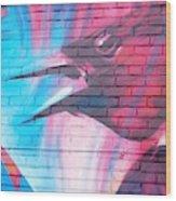 Maroon Blackbird Wood Print
