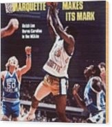 Marquette Butch Lee, 1977 Ncaa National Championship Sports Illustrated Cover Wood Print