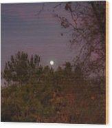 Marvelous Moonrise Wood Print