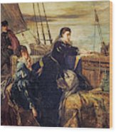 Mary, Queen Of Scots - The Farewell To France, 1867  Wood Print