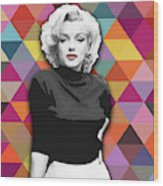 Marylin Monroe Diamonds Wood Print