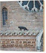 Mary's Cat Wood Print