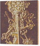 Master Key Wood Print