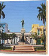 Matanzas, Cuba - Main Square. Palm Wood Print