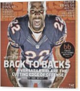 Matt Forte Back To Backs, 2015 Nfl Football Preview Issue Sports Illustrated Cover Wood Print