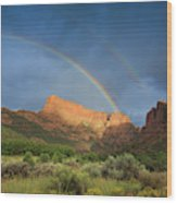Maxwell Canyon Rainbow Wood Print