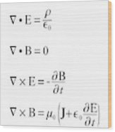 Maxwell's Equations Wood Print