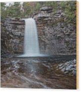 May Evening At Awosting Falls I Wood Print