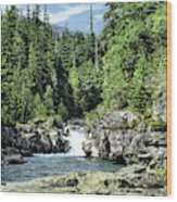 Mcdonald Creek 1 Wood Print