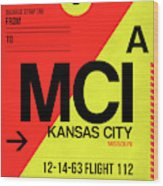 Mci Kansas City Luggage Tag I Wood Print