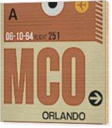 Mco Orlando Luggage Tag I Wood Print