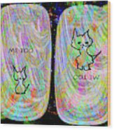 Me Too Cats Wood Print