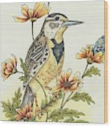 Meadow Song Wood Print