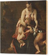 Medea About To Kill Her Children, 1838 Wood Print