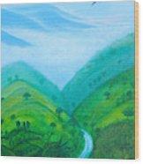 Medellin Natural Wood Print