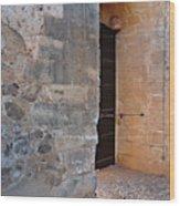 Medieval Castle Entrance In Algarve Wood Print
