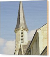 medieval church spire in France Wood Print