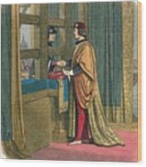 Meeting Of Edward Iv And Louis Xi Wood Print