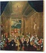 Meeting Of The Masonic Lodge, Vienna Wood Print