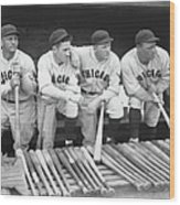 Members Of The Chicago Cubs Wood Print