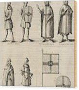 Members Of The Order Of Christ  Wood Print